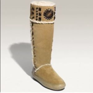 👢Tory Burch Suede Embellished Moccasin Boots 10